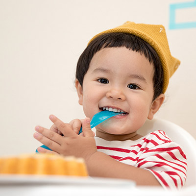 Sugestões para as refeições com o seu filho de 1 a 3 anos